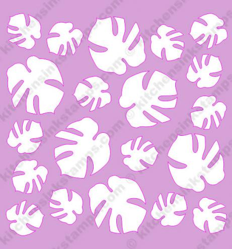 More Info Svg Tropical Leaves Background Stencil Ideal for graphic, web and picture of beautiful vector tropical leaves. kitchen sink stamps